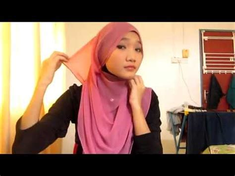 Tutorial Kerudung Pasmina Youtube | cara memakai jilbab segiempat tutorial kerudung pasmina