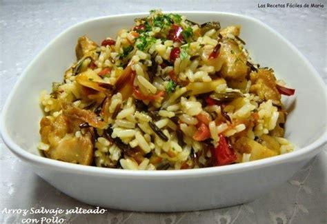 cocinar arroz salvaje arroz salvaje salteado con pollo las recetas f 225 ciles de mar 237 a