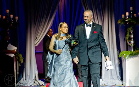 center his wife marjorie left and atlanta mayor kasim reed capture life through the lens 31st annual uncf mayor s