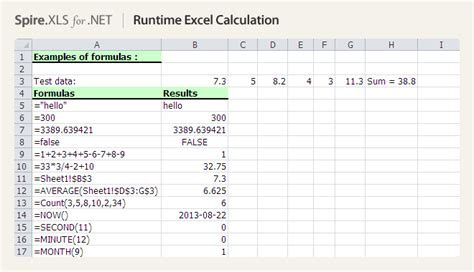 tutorial excel calculation net excel component developing excel in c vb net asp