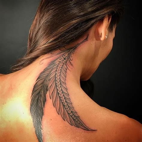 feather tattoo neck meaning 40 feather tattoo designs with meaning