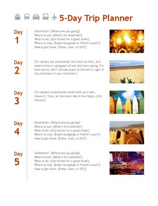 trip itinerary template free download edit fill create and print