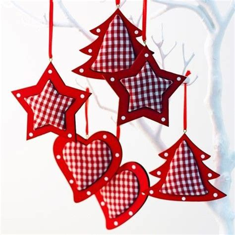red gingham christmas decoration lifestyle home and