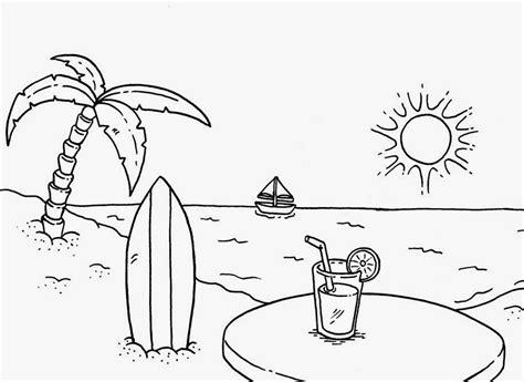 mewarnai pemandangan pantai dan laut bahasa pendidikan bahasa pendidikan