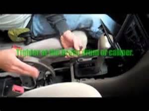 Toyota Auris Handbrake Adjustment Adjusting A Brake On A Car