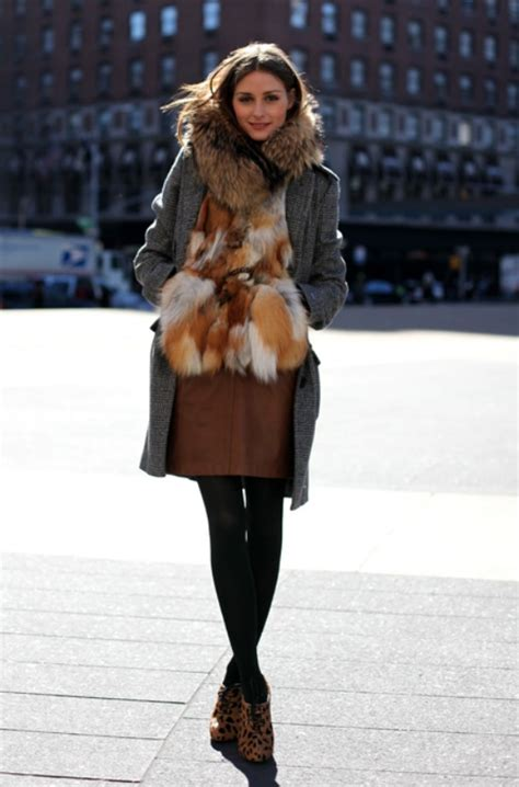 wear  fur vest    week lena penteado