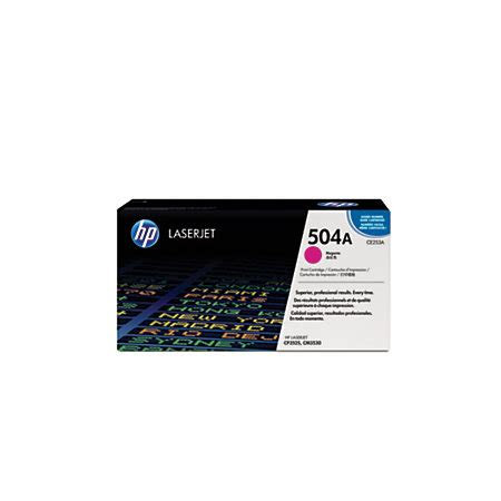 Toner Hp 504a Magenta Original Ce253a hp 504a magenta original toner cartridge ce253a by office