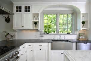 White Kitchen Countertops - soapstone apron sink design ideas