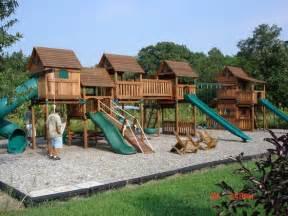 Swing Sets Backyard by Treehouse Custom 3 Playsets Bergfed Recreation