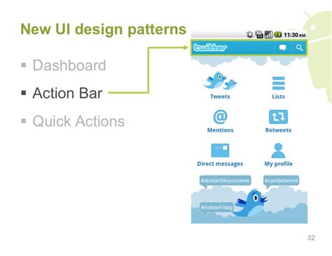 ui pattern for android new ui design patterns