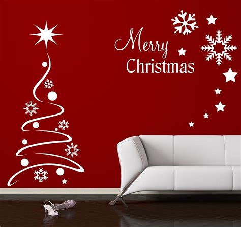 Christmas Wall Art Stickers christmas tree wall sticker wall window shop quote