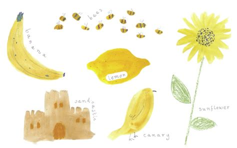 yellow things by rebecca harris on storybird