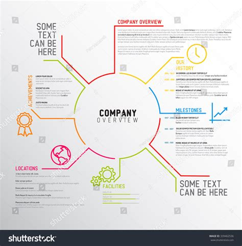 company profile format free pacegez over blog com vector company infographic overview design template with