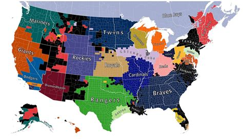 detroit in world map map shows the detroit tigers own the hearts of almost all