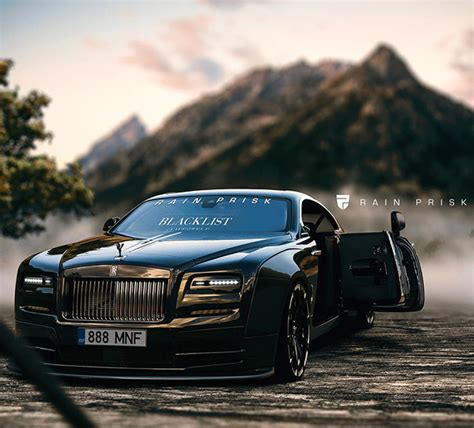 widebody rolls royce widebody rolls royce wraith is completely blacked out