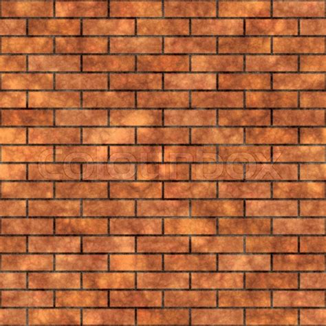Seamless grungy brick wall texture in a burnt orange tone