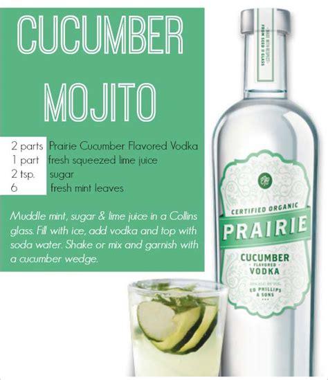 vodka tonic recipe cucumber mojito recipe and prairie organic spirits review