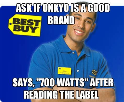 Buy Memes - clueless best buy employee meme guy
