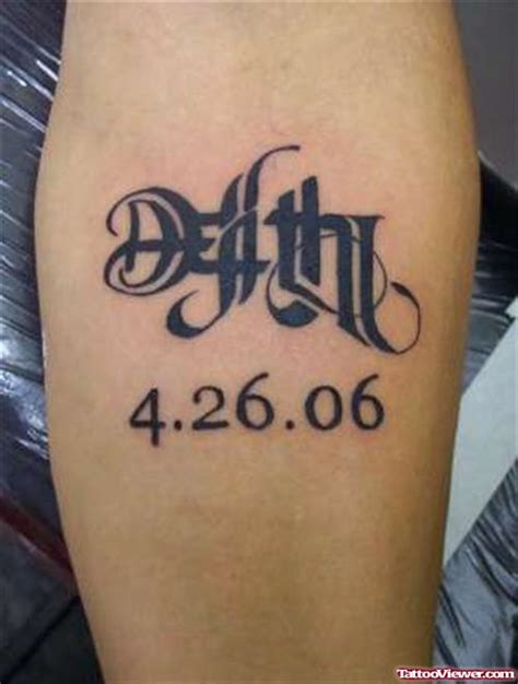 tattoo fonts reversible awesome ambigram lettering on forearm