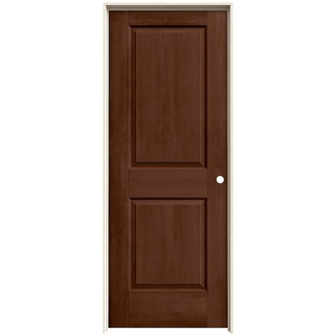 Jeld Wen 32 In X 80 In Cambridge Milk Chocolate Stain Jeld Wen Interior Door Sizes