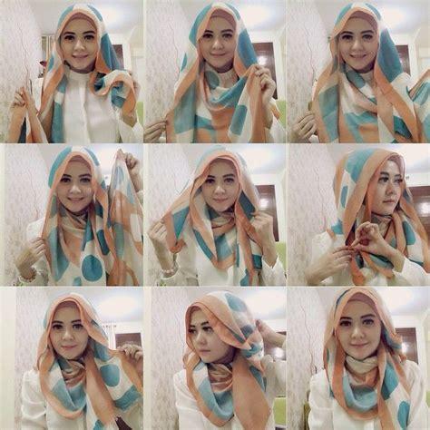 tutorial hijab paris beserta caranya 5 foto tutorial hijab modern segi empat terbaru beserta