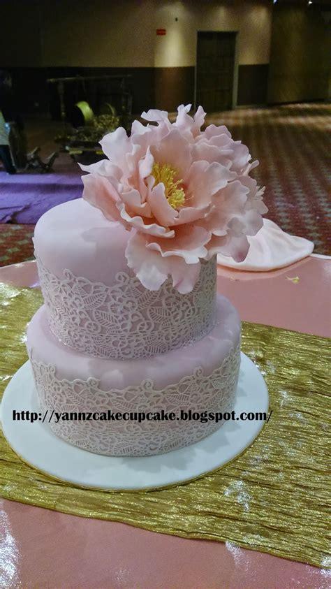 cake cupcake  yannz blush pink wedding cake