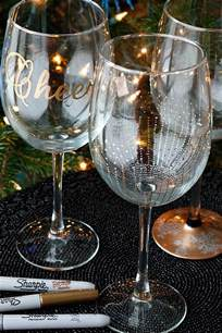 diy wine glasses using sharpies fabtastic