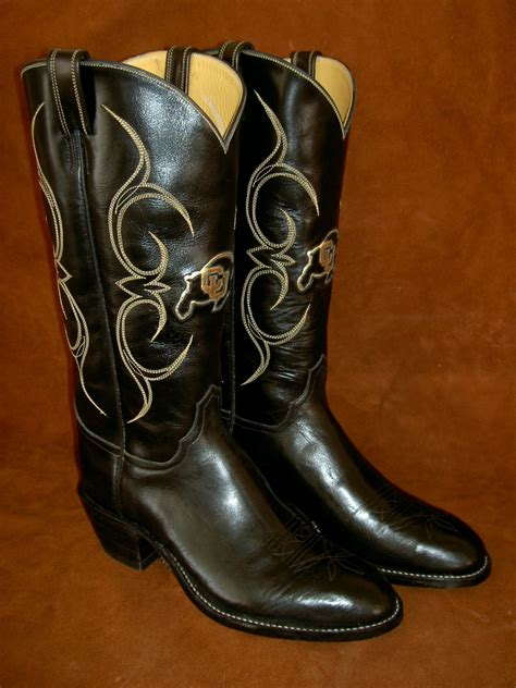 Custom Handmade Boots - sports fans tell your story with custom cowboy boots by
