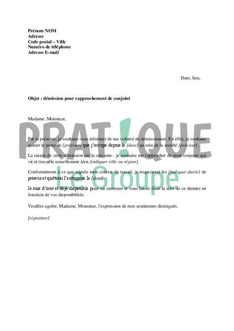 Exemple De Lettre De Demission Internat Modele Lettre De Demission En Recommande Document
