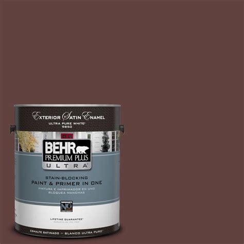 premium exterior paint behr premium plus ultra 1 gal n490 7 ink black satin