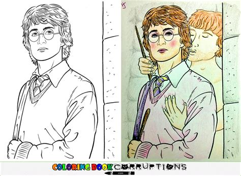 coloring book corruptions buzzfeed chamber of secrets coloring book corruptions
