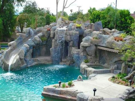 awesome pools one end of pool with lazy river backyard oasis