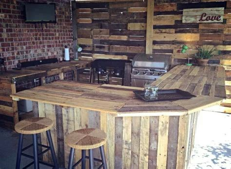 the amazing of rustic outdoor kitchen ideas tedx designs pallet kitchen outdoor spaces pinterest pallets