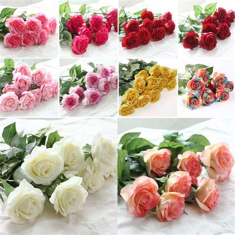 zonaflor pcslot artificial flowers rose