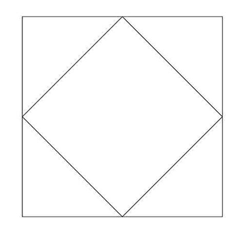 pattern block shape outlines square in a square block outline