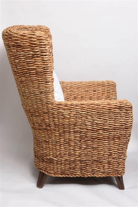 banana leaf armchair banana leaf armchair pair of large woven banana leaf wing