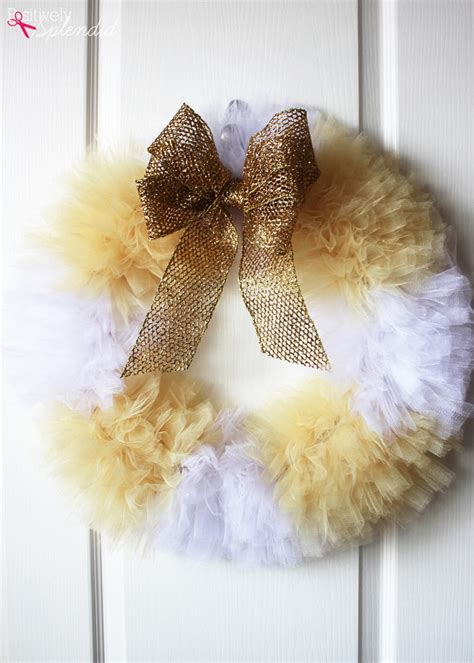 How To Make A Tulle by Tulle Wreath Craft Tutorial