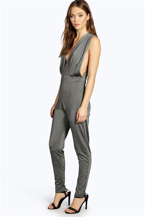 ebay jumpsuit boohoo womens lottie deep plunge jumpsuit ebay
