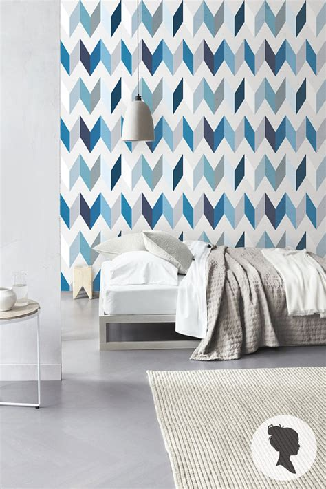 peel and stick removable wallpaper peel and stick chevron pattern removable wallpaper by livettes