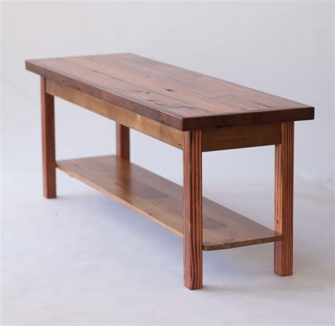Thin Coffee Table Reclaimed Wood Coffee Table With Shelf