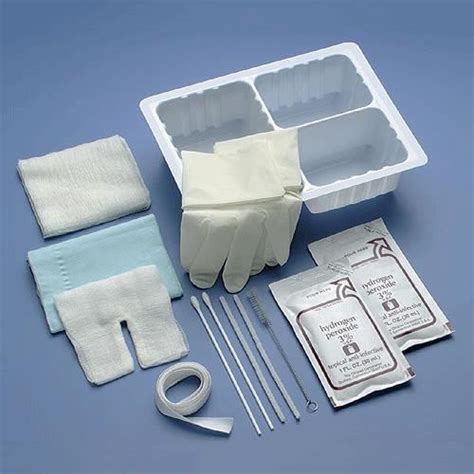 3 compartment set up cardinal health tracheostomy care set with three