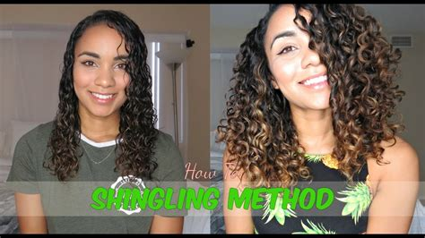 shooing natural in the shower updated version youtube updated curly hair routine shingling method for defined
