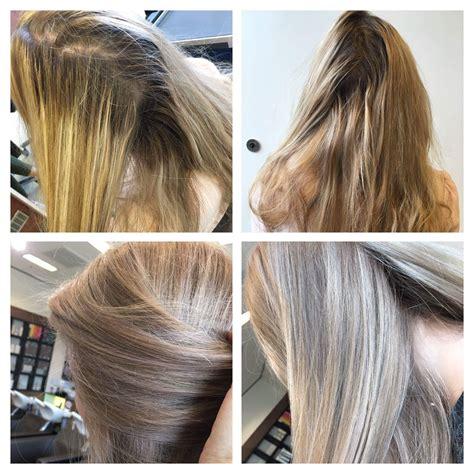 illumina color before and after vorher nachher blond hair illumina