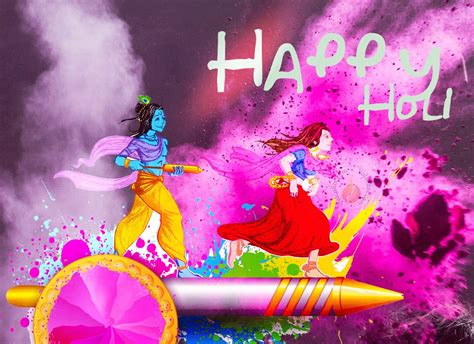 happy holi 2017 radha krishna photos 3d images hd