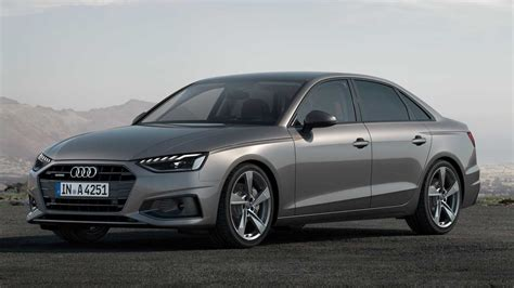 audi  lineup debuts  refreshed face hybrid power