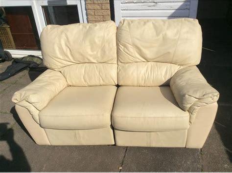 recliner settees 2 seater cream leather recliner settee wednesbury