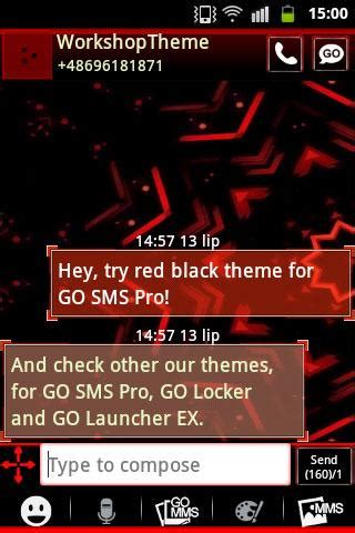 themes go sms doraemon red black go sms theme android apps on google play