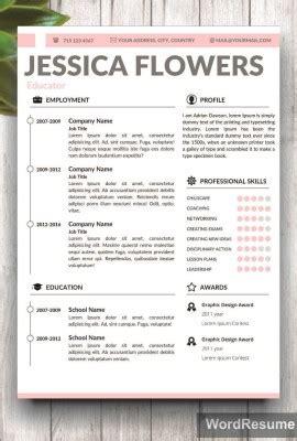 Creative Resume Templates Professional Cv Templates Portfolio Template Word