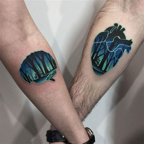 a couple tattoo tattoos a brain best design ideas