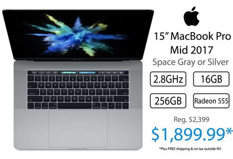 best apple macbook pro last call apple s 2017 15 quot macbook pro for 1 899 lowest